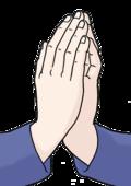 Das Bild zeigt Hände. Die Hände beten.