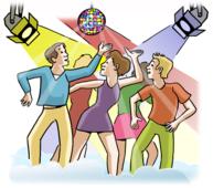 Viele Jugendliche tanzen.