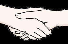 Das Bild zeigt zwei Hände. Die Hände schütteln sich gegenseitig.