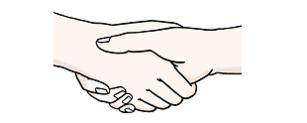 Das Bild zeigt ein Händeschütteln.