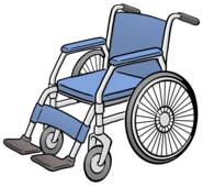 Das Bild zeigt einen Rollstuhl.